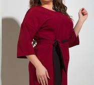 Женское платье 17779 бордовый