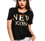 Женская футболка NEW черный