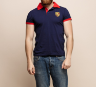 Мужская футболка 15148 темный синий