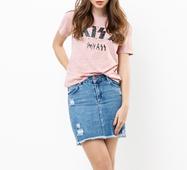 Женская футболка 18567 розовый