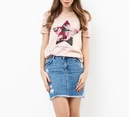 Женская футболка 18563 пудра