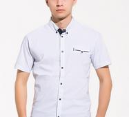Мужская рубашка короткий рукав Трофи белый