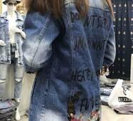 Куртка подовжена джинсова №ат7142 (ГЛ)
