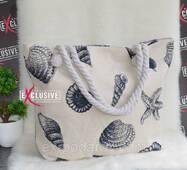 """Жіноча тканинна пляжна сумка """"Черепашки""""."""