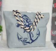 """Жіноча тканинна пляжна сумка """"Море""""."""