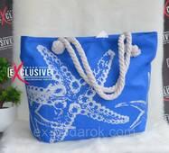 Жіноча тканинна пляжна сумка Морська зірка.