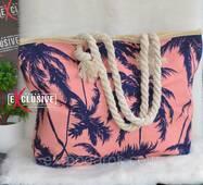 Жіноча тканинна пляжна сумка Пальми.