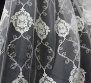 Тюль гардина айворі кордова корона купити у Києві