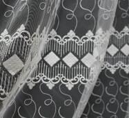 Тюль-гардина біла в спальню ромбики купити в Житомирі
