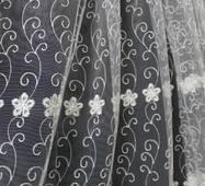Тюль-гардина молочна дрібні квіти купити в Чернівцях