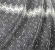 Тюль-гардина молочна зигзаг купити недорого