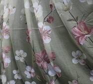 Тюль завіса ефект льону Орхідея купити в Одесі