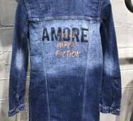 Куртка подовжена джинсова №ат0202 (ГЛ)