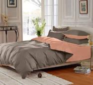 Подростковое двустороннее постельное белье Порох + Коралл