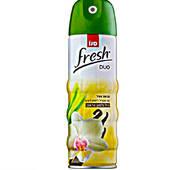 Освежитель воздуха 2 в 1 Sano Duo Fresh Vanilla and Lemon Grass 300мл