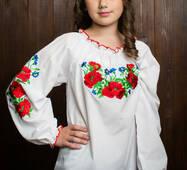 """Симпатичная детская блузка с вышивкой """"Маричка"""""""
