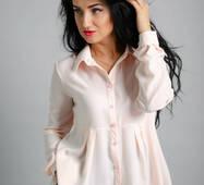 Женская свободная рубашка в полоску 175
