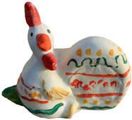 Детская игрушка из гипса Пасхальная курочка