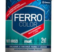 """Краска алкидно-уретановая Chemolak """"Ferro Color"""" матовая коричневая 2,5л."""