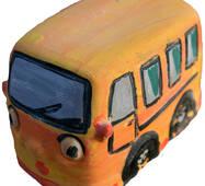 Игрушка из гипса  Автобус