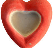Игрушка из гипса Серце