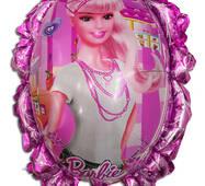 Фольгированный повітряна кулька дзеркало Барби 70 х 59 см