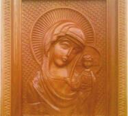 """Резная икона из дерева """"Казанская Богородица"""""""