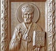 """Икона из дерева """"Святого Николая"""""""