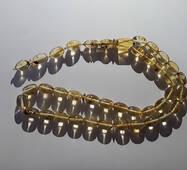 Четки 100% натуральный янтарь бочонок (не пресс, не плавка) 33 бусины 8*11 мм