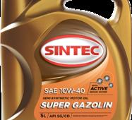 Олива моторна 10w-40, Sintec, Super Gazolin SG/CD,   5л, п/синт