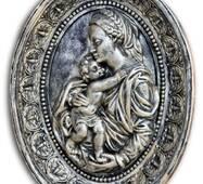 Гипсовая картина Божьей Матери с ребенком Кр/011
