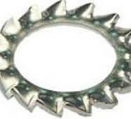 Шайба стопорная внешняя d= 3mm STAR SNELB Z/KAP