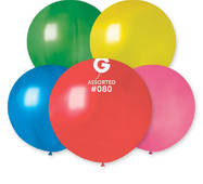 """Шар сюрприз металік асорті 31"""" (80 см).  Кульки повітряні гіганти Gemar"""