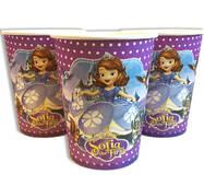 """Скляночки одноразові святкові дитячі """" Принцеса Софі """" 10 шт./уп. Посуд одноразовий дитячий"""