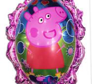 Фольгированный повітряна кулька дзеркало свинка Пеппа 70 х 59 см