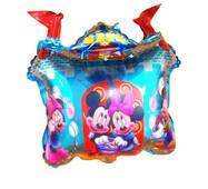 Фольгированный повітряна кулька Замок Микки і Міні  60 х 52 см