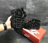 Чоловічі кросівки в стилі Nike Air More Uptempo Black купити недорого