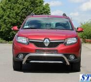 Передняя дуга WT007 (нерж.) - Renault Sandero 2013+ гг. купить в Полтаве
