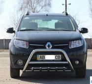 Передняя дуга WT003 (нерж.) - Renault Sandero 2013+ гг. купить в Сумах