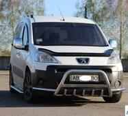 Кенгурятник WT003-Plus (нерж.) - Peugeot Partner Tepee 2008-2018 гг. купить в Харькове
