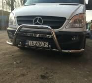 Кенгурятник с усами WT003-Plus (нерж.) - Mercedes Sprinter 2006-2018 гг. купить в Тернополе