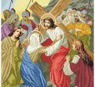 """Канва для вишивання бісером """"Ісус зустрічає свою Матір (Хресна дорога 4)"""""""