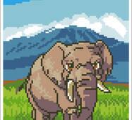 """Вишивка бісером """"Слон"""""""