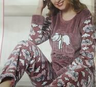 Женская махровая пижама Турция 11301