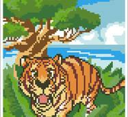 """Вишивка бісером """"Тигр"""""""