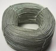 Дріт кручений пломбувальний, 0,5х0,3 мм, в 1 кг 420 м, оцинкований, купити у роздріб