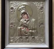 Ікона Почаевская БМ 28.5х32.5см срібло_154