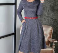 Жіноче тепле плаття з карманами  253