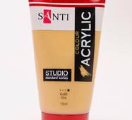 Краска акрил Santi Studio 75 мл Золото (351036)