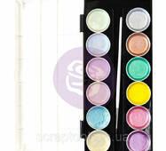 Акварельные краски Prima Art Philosophy Metallic Accents - Pastel Cakes & Brush